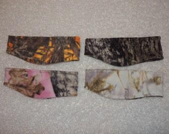 Camo ear warmers, camo headband, camouflage, mossy oak, real tree