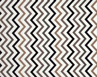Mini Chic Chevron Tobacco - Sienna, Brown, Olive and Cream - One Half Yard - Michael Miller Fabric