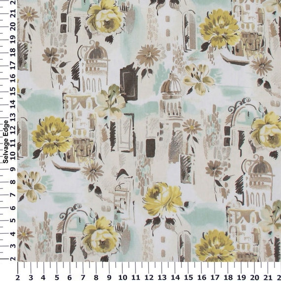Travel Europe Oasis Cotton Home Dec Fabric One Yard 44