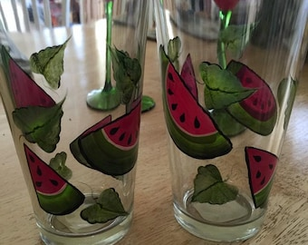Watermelon Fun Drinking Glasses, Summer Accent for any party