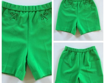 60s MOD Shorts - Lime Green