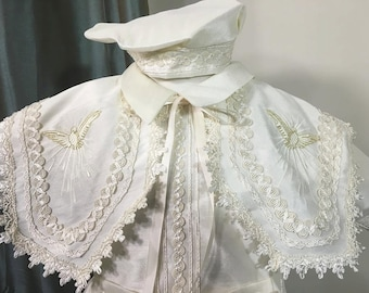 Jacob Baptism outfit for Boy, Four piece Christening set, Blessing outfit, Traje de Bautizo, Ropon del papa para nino, Ajuar Bautismal