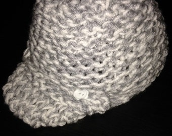 Knit Baby Hat with Visor