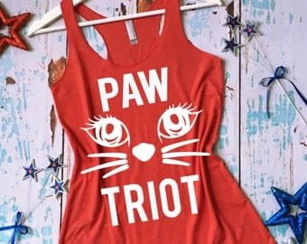 Pawtriot Tank Top. 4th of July Tank Top. Fourth of July Shirt. Independence Day Tank Top. America Shirt. USA Tank Top.