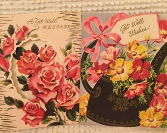 Vintage Get Well Cards, Unused Cards