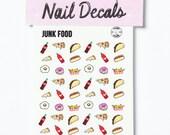 JUNK FOOD waterslide nail decals - Yvng Pearl
