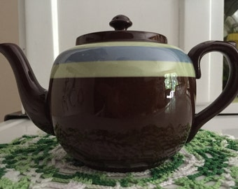 Brown Stoneware Teapot
