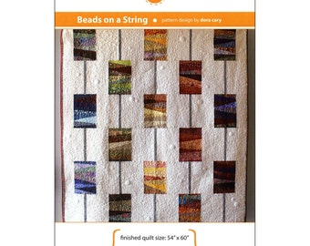 """Pattern """"Beads on a String"""" Quilt Pattern by Orange Dot Quilts (ODQ001) Paper Piecing String Quilt Pattern"""