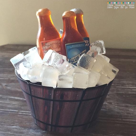 100% Edible Isomalt Sugar Mini Beer Bottle Cupcake Kit with Custom ...