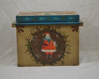 Folk art Christmas box