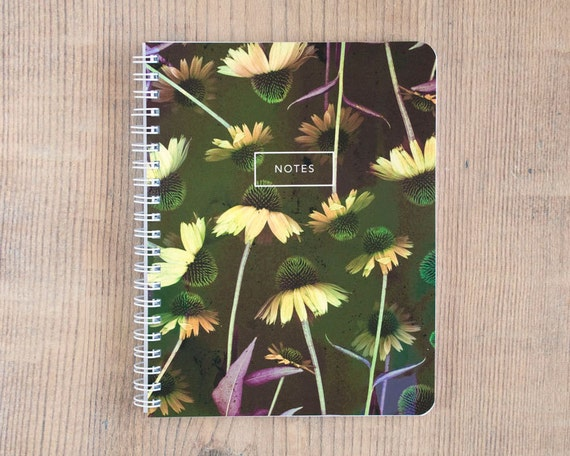 Candid Coneflower Notebook, Journal, Diary, Flower Statement, Travel, Gift, Planner, Writing, Thoughts, Notes, 5.5x7.25 inch