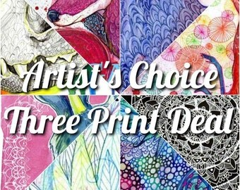 Artist's Choice, Three 5x7 Prints