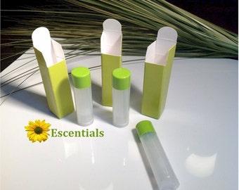 Lime Green Lip Balm Tube Box - 500 Pack