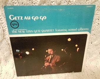 "The New Stan Getz Quartet  Featuring Astrud Gilberto - ""Getz Au Go Go"" vinyl record"