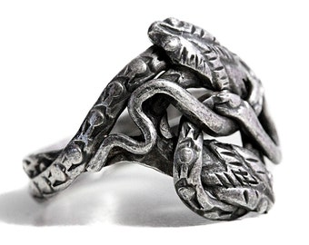 Ring Double Snake Silver