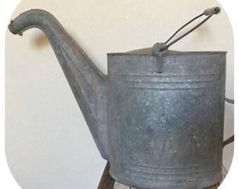 Vintage Metal Watering Can Large