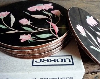 1970s Jason brand coasters ~ Jason New Zealand vintage coasters boxed as new