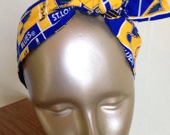 St. Louis Blues Headband Knot Headband