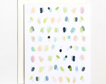 Spots Overlay - A2 Greeting Card