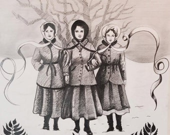 Snow Sisters Drawing