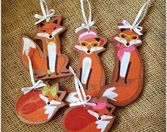 Fox decoration. Quirky Hanging or Foxy Lady Decoration. Personalisations Available 'Foxy Lady!'
