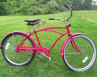 Red Huffy Men's Bicycle Good Vibrations Cruiser