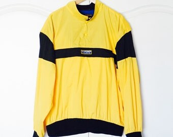 TOMMY HILFIGER 90's Yellow Colorblock Vintage Windbreaker Jacket Pullover Large