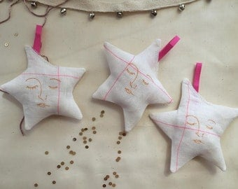 Star Ornaments (Set of 3) (Made to Order)