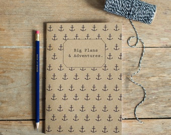 A5 'Big Plans & Adventures' Notebook - perfect Stocking Filler or Secret Santa Gift