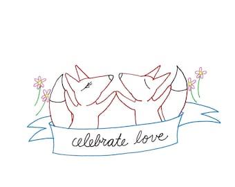 Fox Embroidery Pattern Printable Woodland Animal Digital Downloadable 0104
