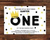 Where the Wild Things Are Inspired Invitation / Printable / Birthday Invitation / Boy Birthday / Girl Birthday