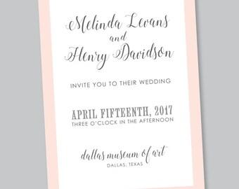 Printable Invitation - Melinda