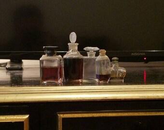 5  Rare Vintage Purfume Bottles, 1920s-1950s