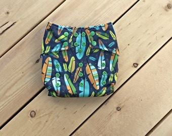 25% off All In One Cloth Diaper AIO {Feathers, Feather, Tribal, Dreamcatcher, One Size} {Cotton, PUL, Snap} {Baby Shower Present} {WAHM}