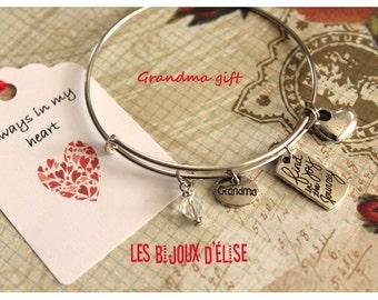 Grandma Wire Bangle Bracelet Expandable Bracelet Family Bangle