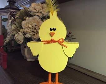 Standing Easter Chick, Wooden Decoration