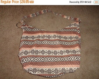 50% OFF Cotton boho bag xl holds a ton books, laptop, purse  23 inch by 23 inch