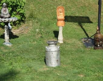 Antique Milk Can Salvaged Reclaimed Garden Art