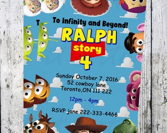 Toy Story Birthday Invitation, little boy birthday, little girl, custom birthday invitations, Printable, physical or digital file