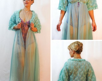 Sheer Blue Dressing Gown