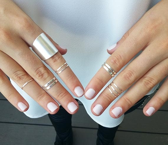 midi rings silver rings silver knuckle ring set of 9 silver
