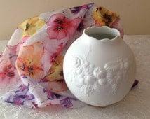 Signed KAISER vase, matt white porcelain collectible vase