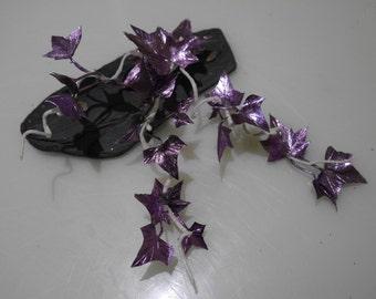 purple mini ivy clip