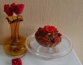 Romantic roses chocolat cake