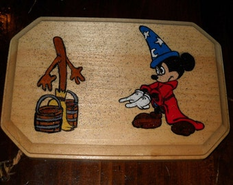 Disney Fantastia-Inspired Wood Plaque