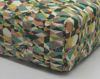 Fitted Crib Sheet - Intertwill Green