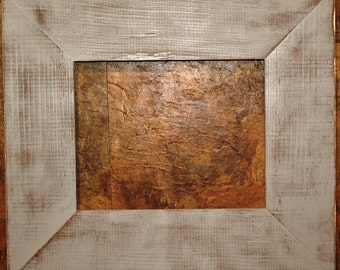 "F002 3-1/2"" Gray Distressed Picture Frame"