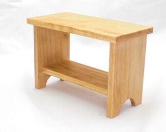 Miniature Maple Furniture, Dollhouse Furniture, Dollhouse Mini, Console Table, Side Table, Doll Furniture, Dark Wood Furniture