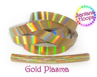 Gold Plasma Rainbow Taped Performance Hula Hoop Polypro or HDPE
