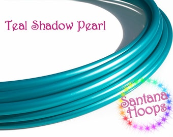 """5/8"""" Teal Shadow Pearl PolyPro Hula Hoop Button collapse"""